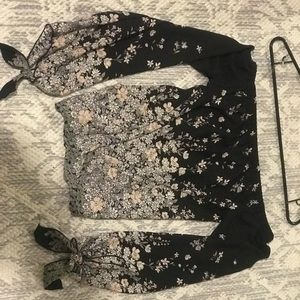 Off should long sleeve Blouse